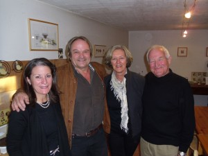 Winemaker Nicolas Bagnoud (2nd from left) from Flanthey, Valais with me (left), dear friend Karen Haeffner and hubby Dani