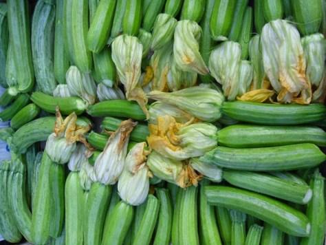 Zucchini at the Alba Mercato.