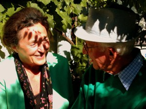 One of the most endearing couples of Valais' vineyards, Antoinette Maye and her dearly departed husband Simon.
