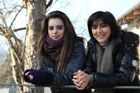 Ornella Correggia (right) and her daughter, Brigette