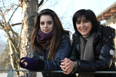 Ornella Correggia (right) and her daughter, Brigitta