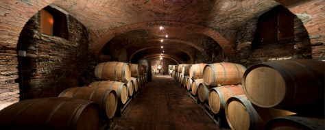 "The ""cantina vecchia"" (old cellar) that has housed barrels of aging wine for centuries."