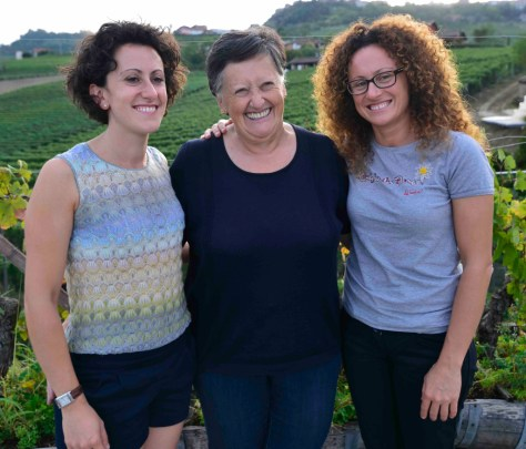 Lucia Altare with her daughters Elena (left) and Silvia.