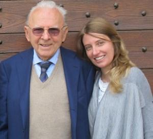 Isabella Boffa Oddero with her beloved grandfather and Barolo icon Giacomo Oddero.