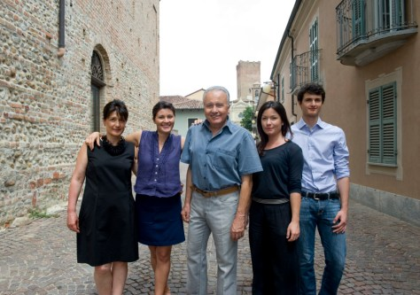 Lucia Gaja (left) and her children Gaia, Rossana, and Giovanni, and husband Angelo. Photo Credit - Andrea Wyner