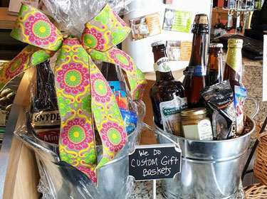 gift basket with beer image