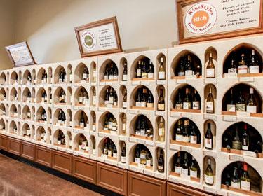 interior of wine retail alcoves image