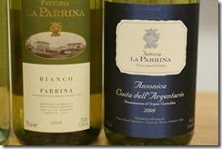 Two La Parrina whites