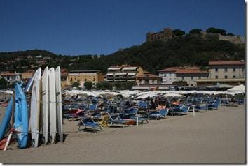 Castiglione from its beach