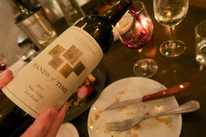 Just A Good Time With Stag's Leap Wine Cellars Hands Of Time
