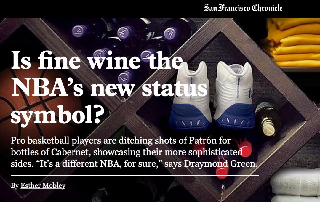 the san francisco chronicle s is fine wine the nba s new status