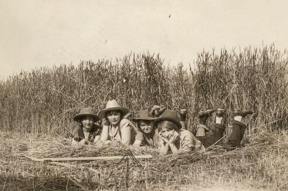 Hazel Ernst, second from left, 1925