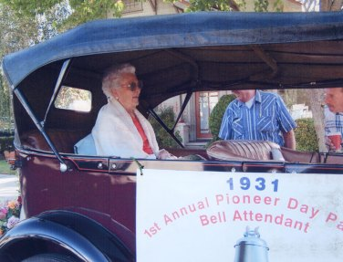 Hazel Ernst Steinbeck in Annual Pioneer Day Parade.