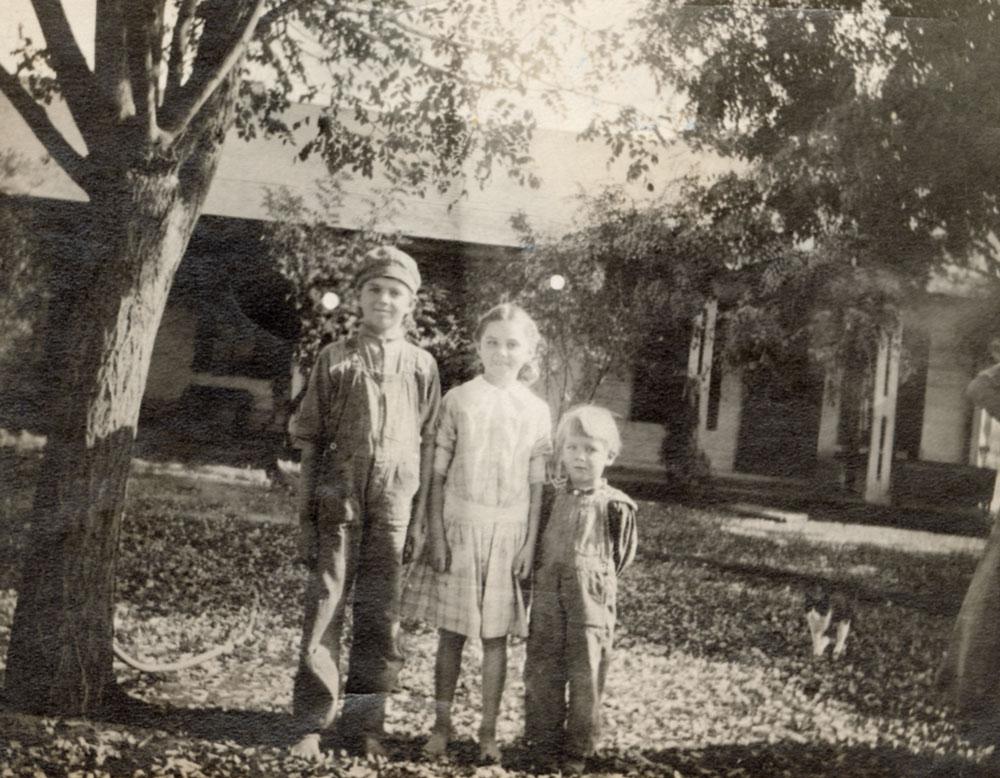 Harold, Hazel, and Bud Ernst, circa 1920s
