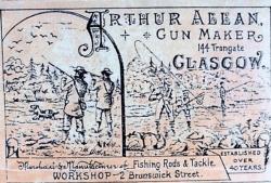 Trade Label for Arthur Allan