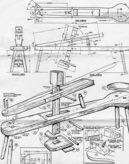 Plans for a shave horse