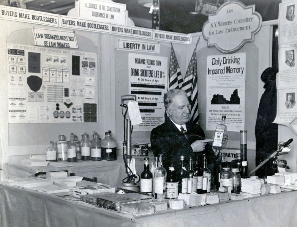 Pro-Prohibition Booth at Parents' Exposition Week, Grand Central Palace; 2/23/1929; Records of the Internal Revenue Service, Record Group 58