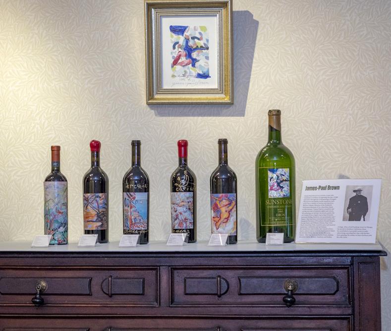 Wine becomes art