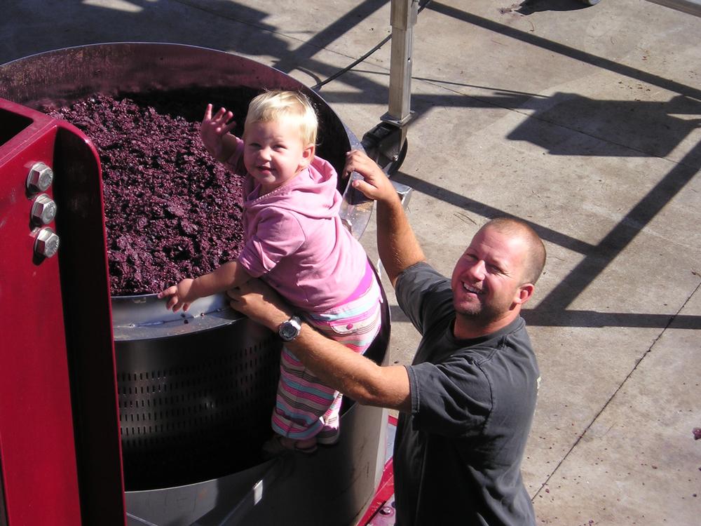 Josh Beckett and daughter Sydney, 2006.