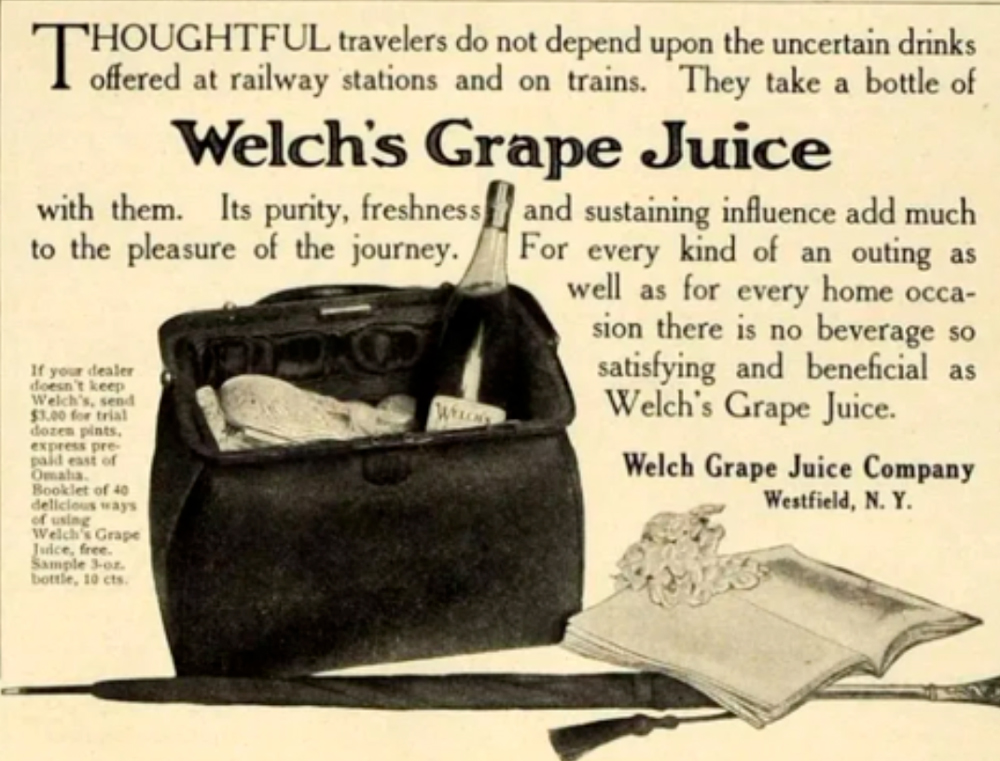 Welch's Grape Juice Advertisment, 1906.