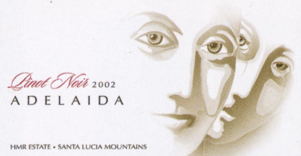 Adelaida PinotNoir 2002 Wine Label