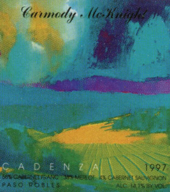 Carmody McKnight Cadena 1997 wine label
