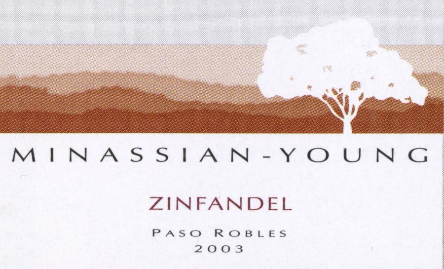 Minassian-Young Zin wine label 2003