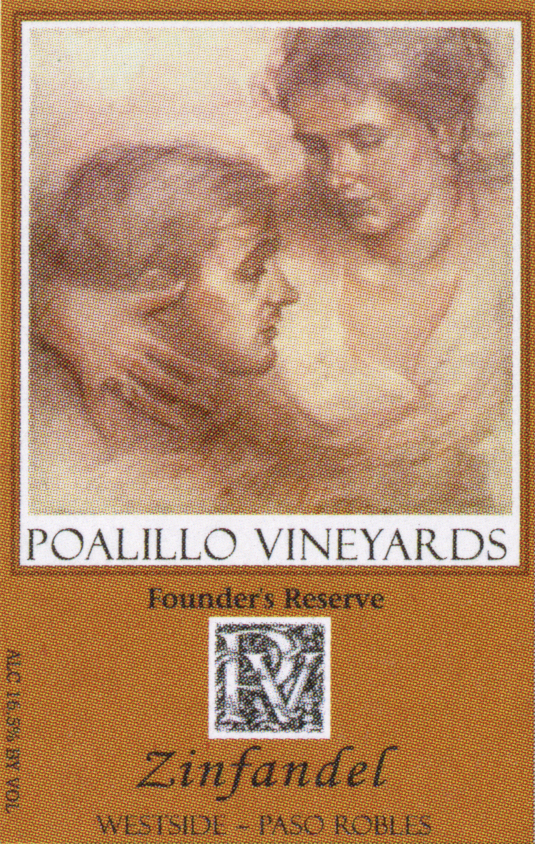 Poalillo Vineyards wine label