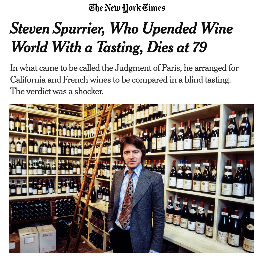 Steven Spurrier, Who Upended Wine World With a Tasting, Dies at 79