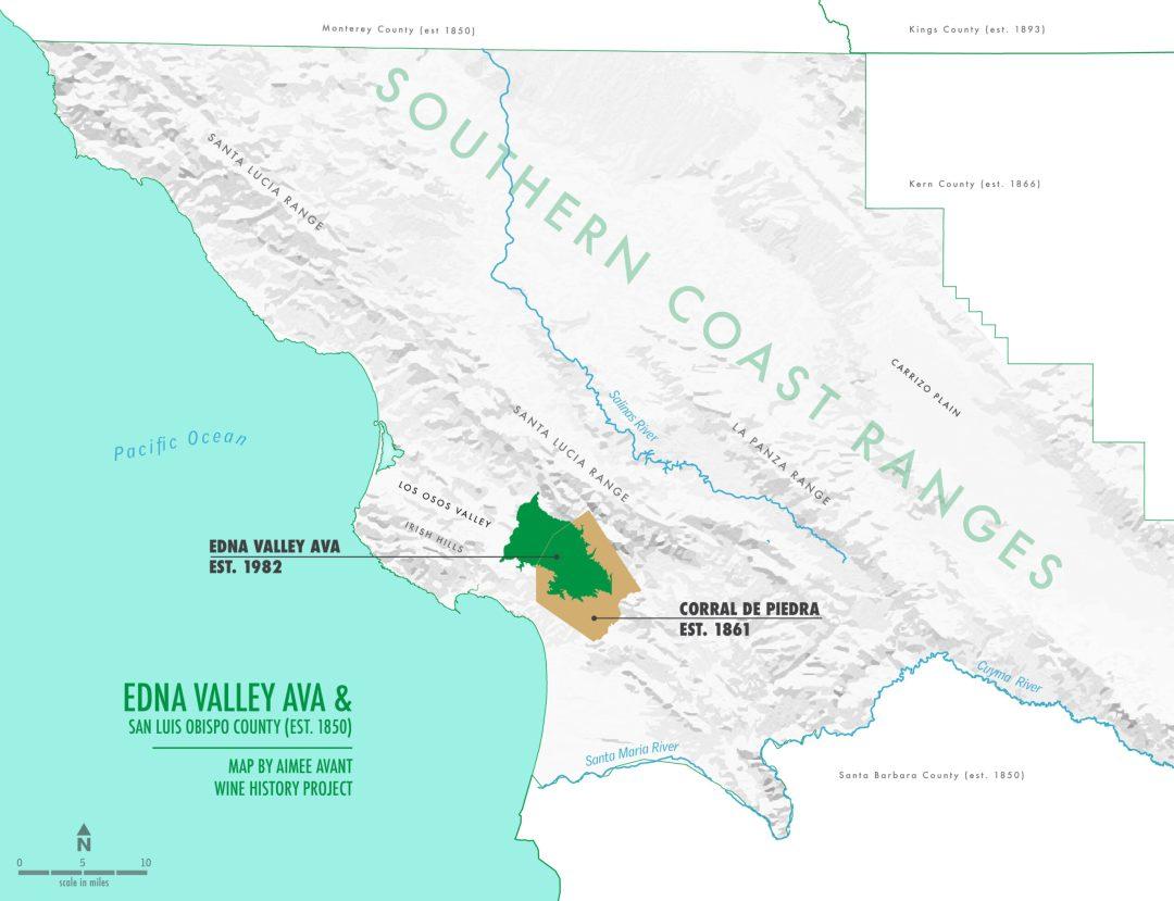 Edna Valley San Luis Obispo map by Aimee Avant