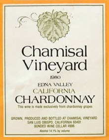 chamisal wine label