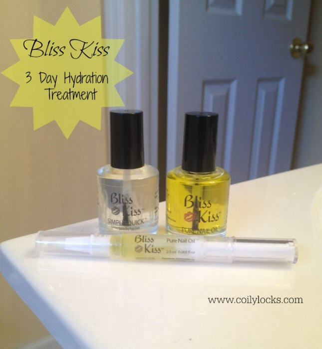 Bliss Kiss Pure Nail Oil 3 Day Hydration Treatment Coily Locks Alisha Lampley