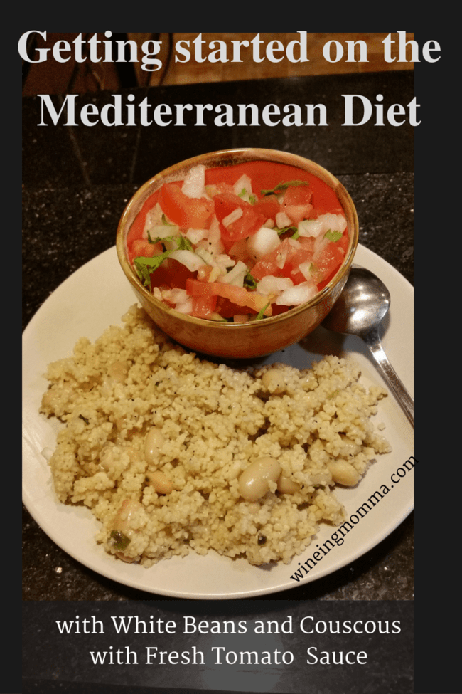 White Beans and Couscous with Fresh Tomato Sauce title