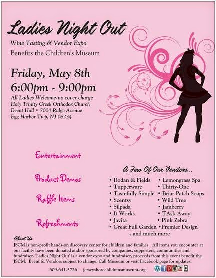 Ladies night out at jersey shore childrens museum wine in mom the ladies night will include raffles entertainment product demonstrations and my personal favorite wine tasting stopboris Choice Image