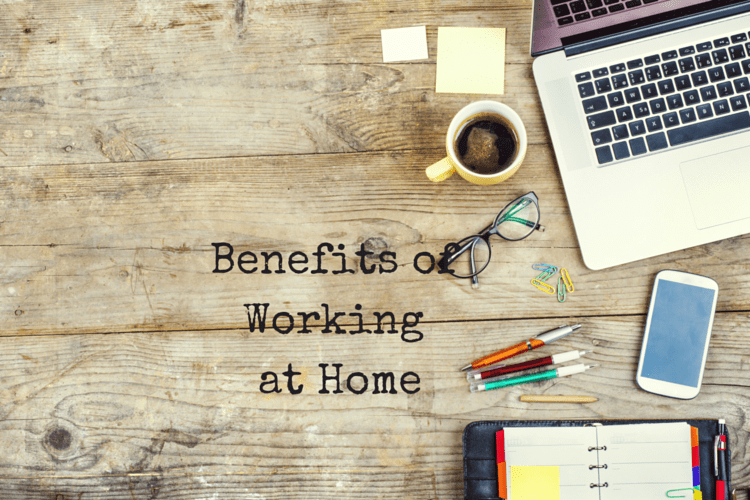 Working at home comes with some benefits, that you don't always realize
