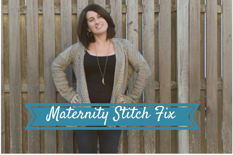 Maternity stitch fix: Skies are Blue - Bobbi Open Drape Cardigan