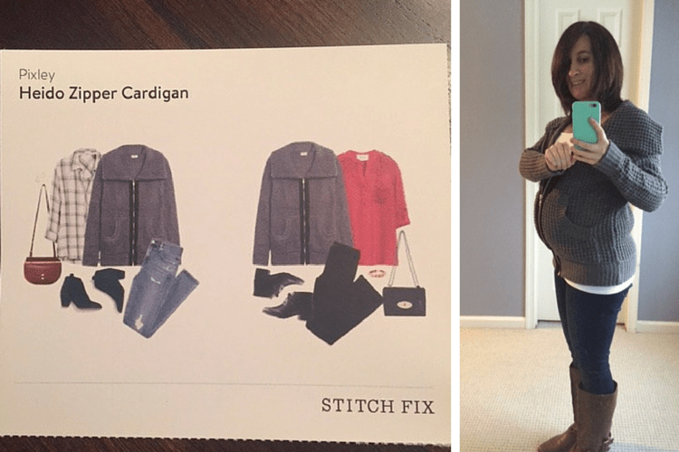 Heido Zipper Cardigan, as seen in my second trimester stitch fix