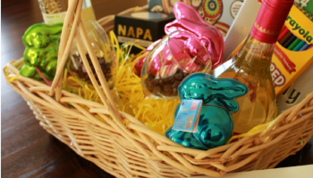 Easter is not christmas wine in mom easter basket hostess gift negle Image collections