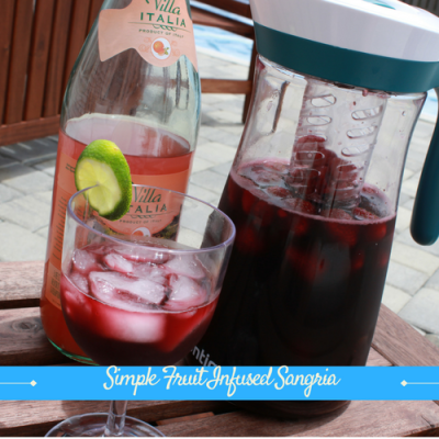 Simple Fruit Infused Sangria
