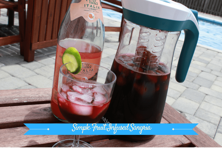 Simple Fruit Infused Sangria is easy to make and sure to be a hit at any party.