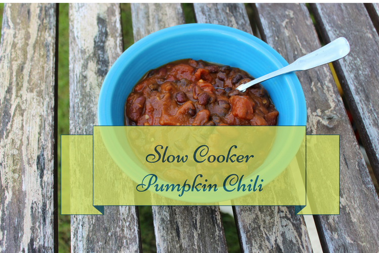 This smokey and spicy pumpkin chili is perfect for a fall night. It quickly comes together in your slow cooker.