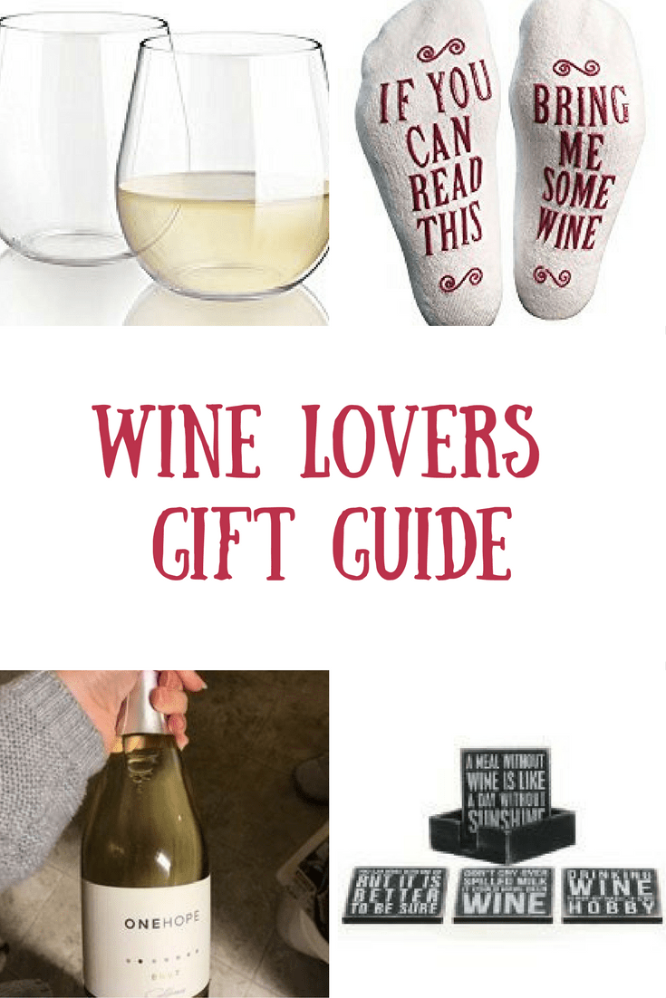 Gifts for the wine drinker on your list. Wine Lovers gift guide.