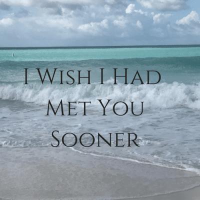 I Wish I Had Met You Sooner