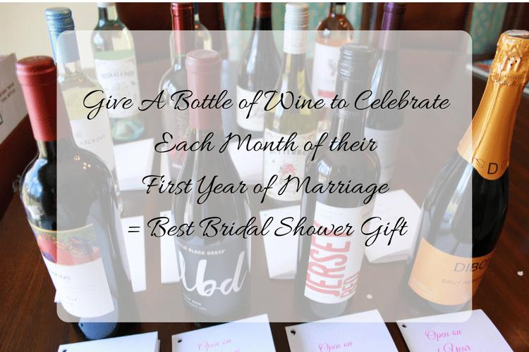 bridal shower wine gift