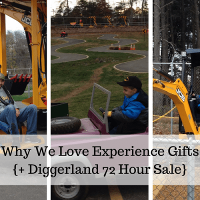 Why We Love Experience Gifts {+ Diggerland Ticket Sale}