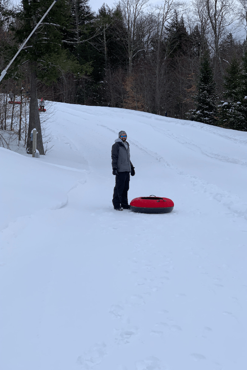 snowtubing at Smugglers' Notch