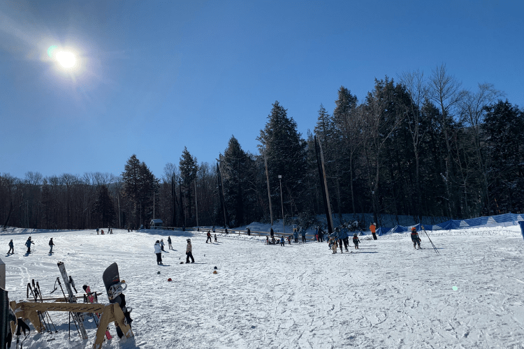 beginner skiing at Smugglers' Notch