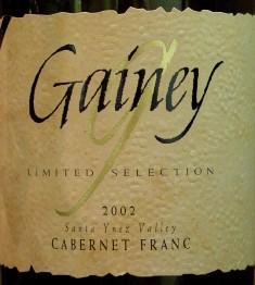 Gainey 2002 CabFranc