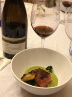 Waygu Short Rib, Broccoli Stem, Broccoli, Puree, Charred Broccoli Florets and 2006 Galil Meron 2