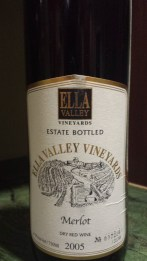 2005 Ella Valley Maerlot